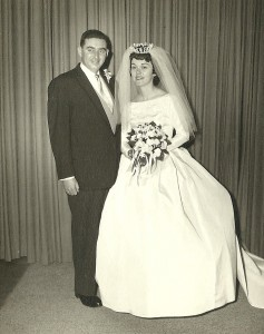 My Mom and Dad on their wedding day.  So cool...51 years ago...
