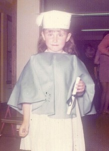 My first diploma in preschool.  I am becoming a student at life.