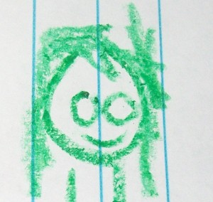This is how my son thinks my hair looks!  I swear it isn't green from the vitamins!