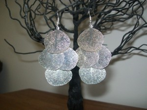 Majestical.com leaf cluster earrings - I couldn't resist photographing them on a tree - so beautiful